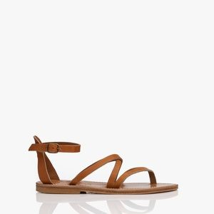 Kj kjaques brown leather gladiator sandals